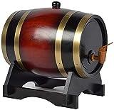 YAOSHUYANG Barril de Madera, Carril de Vino de Madera de Roble, dispensador de Vino de Estilo Vintage, para almacenar Whisky, Vino, vinagre (Color : C, Size : 10L)