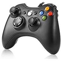 JAMSWALL Xbox 360 Mando de Gamepad, Controlador Mando USB de Xbox 360 Compatible para Windows XP/7/8/10