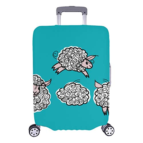 Best Luggage Cover Adorable Jumping Cute Sheep Durable Washable Protecor Cover Fits 28.5 X 20.5 Inch Luggage Case Protection Cover Hard Cover Baggage Suitcase Protector Cover