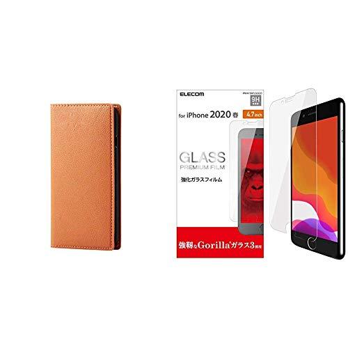 【フィルムセット】エレコム iPhone2019/4.7inch ケース RICERCA ソフトレザー [イタリアブランドの滑らかで上質なソフトレザーを採用] オレンジ PM-A19APLFYILDR【ゴリラガラス】