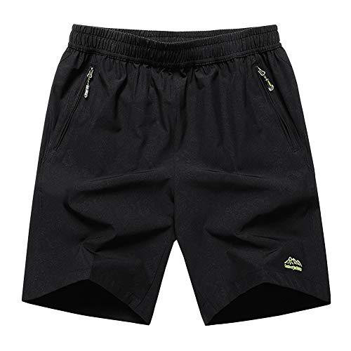 SXSHUN Hombres Bañadores Talla Grande (XL-10XL) Pantalones Cortos de Secado Rápido con Cordón