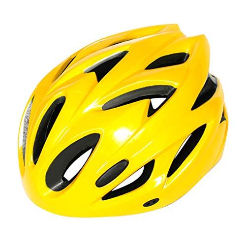 Eariy Unisex Fahrradhelm,atmungsaktiver Helm Schutzhelm mit Verstellbares Stirnband,Sicherheitsverstellbarer Radhelm Skaterhelm,für Erwachsene,Jugendliche und Kinder (Gelb)