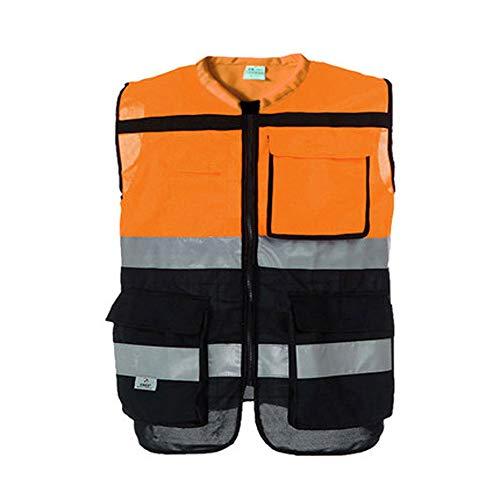 Chenxin Reflektierende Vest-Sichtbar Hohe Reitarbeit Nacht Reflektierende Sicherheit Kleidung Weste Sicherheit Kleidung Verkehr Fahrer Reflektierende Kleidung Nacht Bau Sanitär Fluoreszierend Draussen