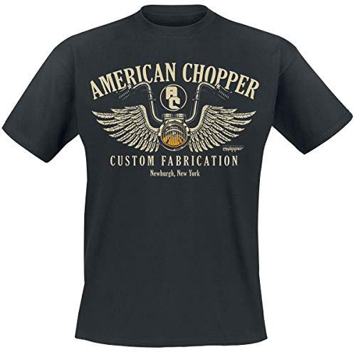 American Chopper Handlebar Uomo T-Shirt Nero XL 100% Cotone Regular