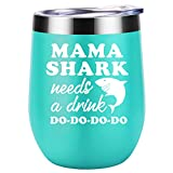 Valentines Day Gifts for Mom, Wife - Mama Shark Needs a Drink - Funny Mom Birthday Gifts - Mom Gifts...