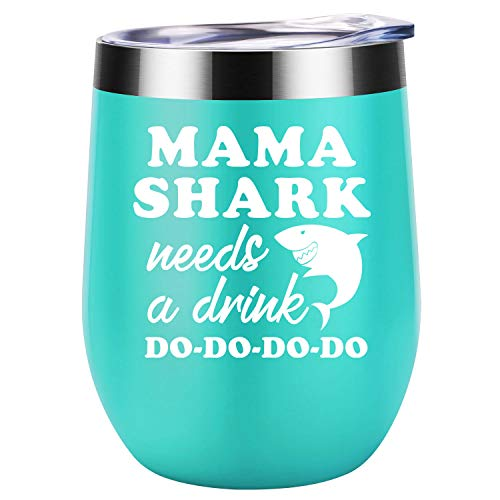 Mama Shark Needs a Drink 12 Oz Beverage Tumbler