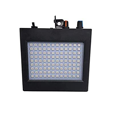LED Bright Strobe Light LED Party Stage Lighting White 35W 108 Leds Sound Control Auto Operation Strobe Speed Portable Adjustable for Halloween Disco Bar Wedding Party KTV Concert Christmas Club