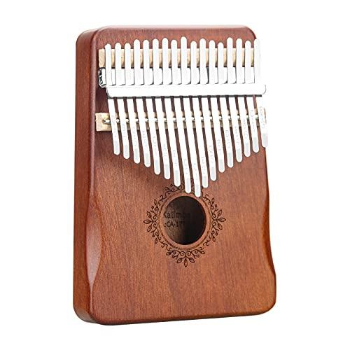 Kalimba 17 Schlüssel Daumenklavier Marimba Hochwertiges Holz tragbares Finger Klavier Musikinstrument mit Stimmhammer Studienanleitung Tragetasche für Kultivieren...