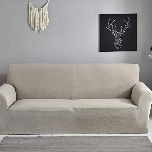 Elástica Cubierta De Asiento,Funda De Sofá De Color Sólido para Muebles De Sillón De Esquina Seccional De Sala De Estar-15_145-185Cm
