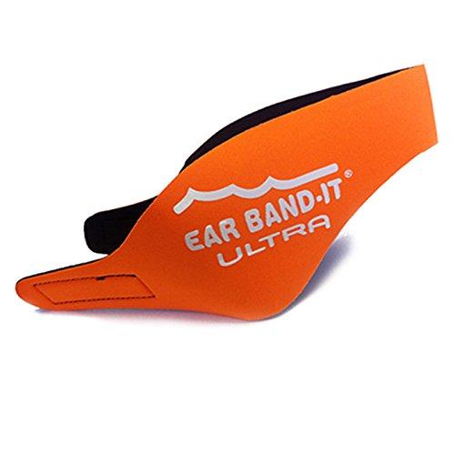 Ear Band-It Ultra Schwimm-Kopfband/Ohrschutz, Neopren –Größe M, Alter 4- 9 Jahre, Orange, With Orange Putty Buddies