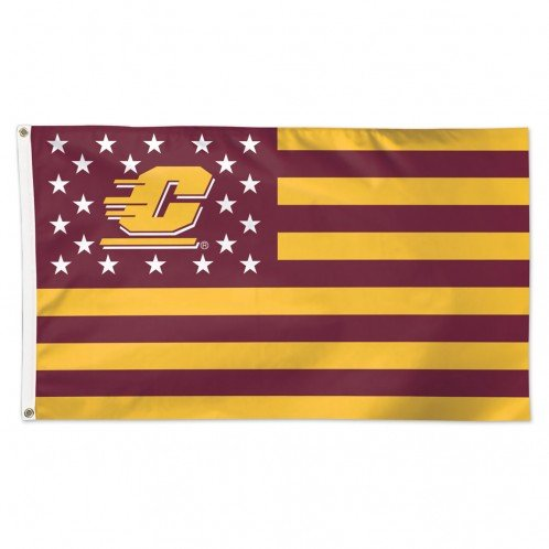 Wincraft University of Central Michigan Chippewas NCAA American Flag 3 x 5 Foot