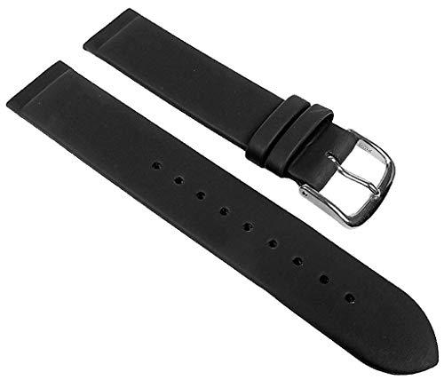 GRAF Uhrenarmband Leder Schwarz Anstoß zum verschrauben, Stegbreite:24mm