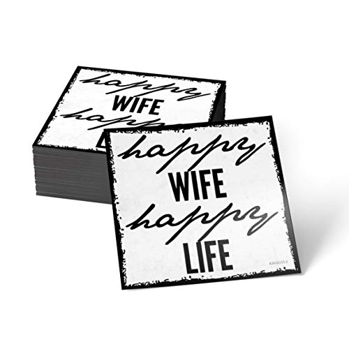 how about tee Happy Wife, Happy Life - Kühlschrank- / Whiteboard-Magnet