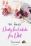 90 days Daily Food intake for Diet Journal: Daily Meal planner and weight loss progress tracker. Record fats, proteins, calories per meal  and more