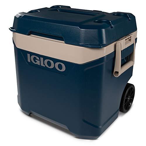 Igloo Maxcold Island Breeze 62 Quart 58 Liter Rolling Cool Box Ice Drinks Food Cooler