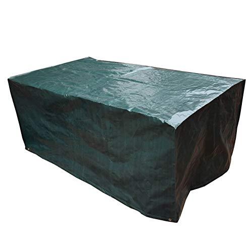 PATIO PLUS Housse pour Table de Jardin, Carré Housse Salon de Jardin en PE Imperméable, Couverture de Protection de Meuble, Table, Chaises 230x135x80cm