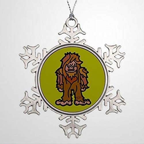 BYRON HOYLE Personalised Christmas Tree Decoration Big Foot Business. Outdoor Tree Decorations Sasquatch Christmas Snowflake Ornaments Xmas Decor Wedding Ornament Holiday Present