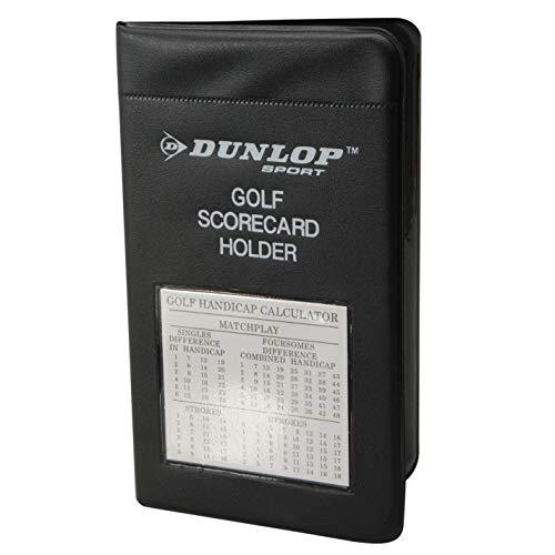 Dunlop Scorekartenhalter Schutzhülle Handicap Taschenrechner Golf Sport Zubehör