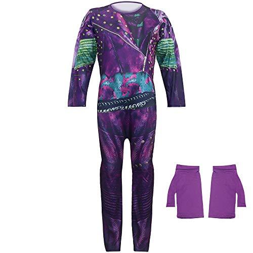 Descendientes de Halloween 3 Disfraces de Cosplay Disfraz de Audrey Fiesta de Juego de rol Azul púrpura Vestir Onesies Mono Trajes Fantasía Regalo para niñas