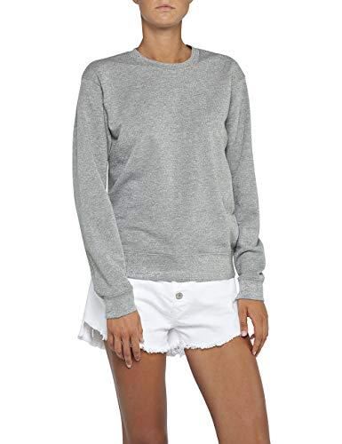 Replay Damen W3971E.000.22674 Sweatshirt, Silber (Silver Lurex M18), Medium (Herstellergröße: M)