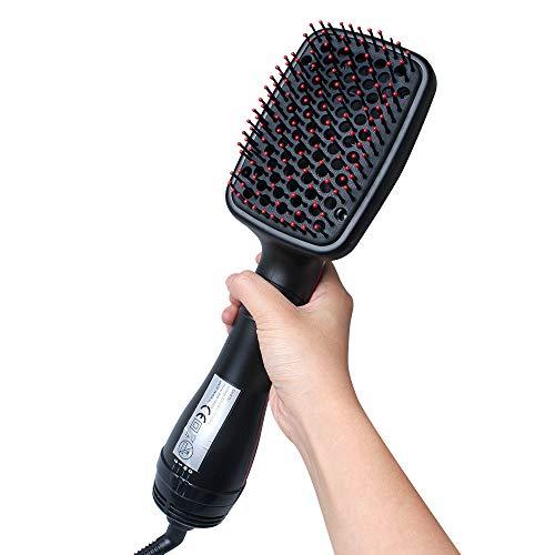 SHWYJ Haardroger Voor Vrouwen Föhn Reizen Haardrogers Haardroger 2 In 1 Multi-Functie Hot Air Kam Nat En Droog Dual-Gebruik Negatieve Ion Droog Haar Kam Recht Haar Kam