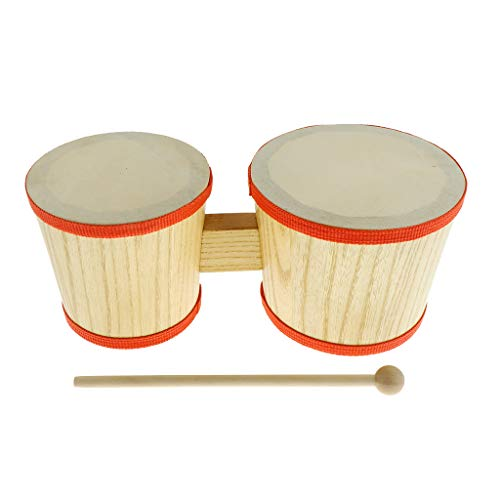 Children Hand Percussion Toys Bongo Drum with Drum Hammer...