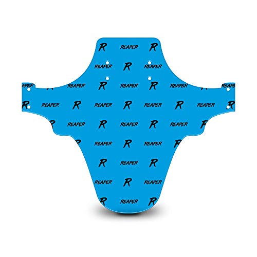 Reaper Accessories Easy-fit Front Mountain Bike Mud Guard Cycle Cycling Fender - Fits 24', 26' & 27.5' - Reaper Logo Pattern Blue & Black