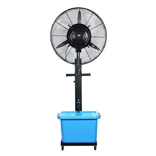Ventilador de pedestal para construcción de fábrica Ventilador de nebulización oscilante para exteriores - Ventilador industrial de enfriamiento por aspersión para interiores grande Humidificador de