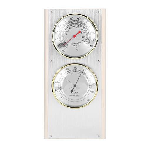 Atyhao Holz Sauna Hygrothermograph 2-in-1 Doppelwahlthermometer Hygrometer Sauna Raumausstattung Zubehör