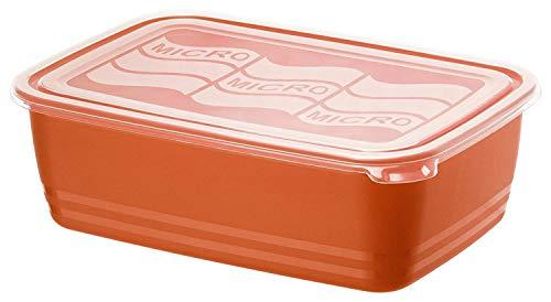 Rotho Eco Mikrowellendose 3,7l mit Deckel, Kunststoff (PP) BPA-frei, rot/transparent, 3,7l (29,5 x 20,0 x 9,2 cm)
