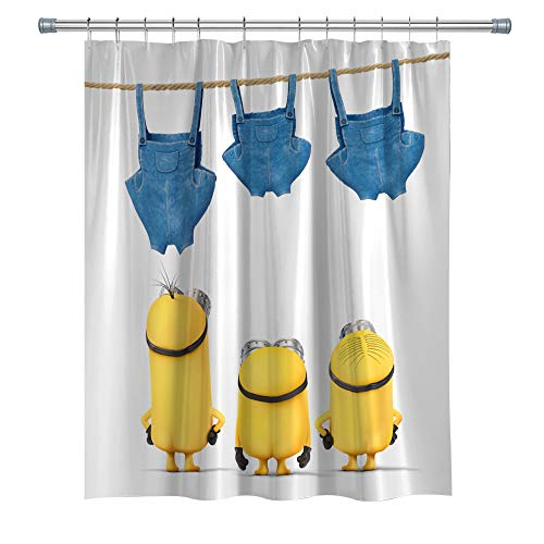 Shower Curtains for Children Bathroom, Waterproof Fabric Shower Curtain for Bathroom, Bathroom Accessories with Hooks,71X 71 in