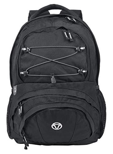 travelite Handgepäck Rucksack für Reise, Freizeit und Sport, Gepäck Serie BASICS Daypack: Funktionaler Rucksack, 096286-01, 42 cm, 29 Liter, schwarz