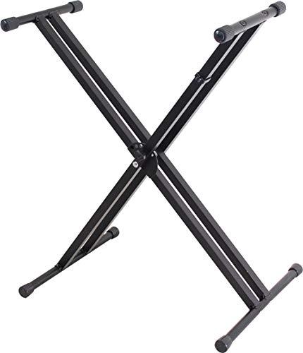 KC キーボードスタンド X型 ダブルレッグ 5段階高さ調整 ブラック KBS-D/BK (耐荷重量:約60kg)