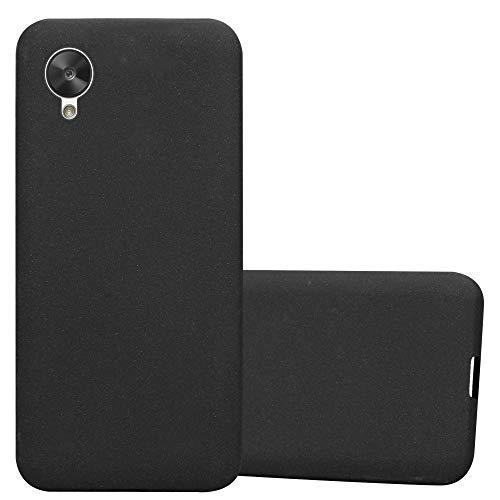 Cadorabo Funda para LG Nexus 5 en Frost Negro - Cubierta Proteccíon de Silicona TPU Delgada e Flexible con Antichoque - Gel Case Cover Carcasa Ligera