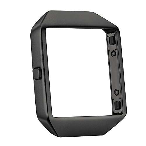 Kartice Compatible with Fitbit Blaze Frame,Fitbit Blaze Frames Housing Cable Metal Stainless Steel Frame Compatible Fibit Blaze Smart Watch.-Black