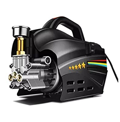 High Pressure Washer Pressure Washer Car 100Bar Working Pressure Pure Copper 1500W Professional Washer Cleaner Machine Ideal For Washing Cars, Cleaning Decking, Paths, Driveways, Fences Etc. by yang