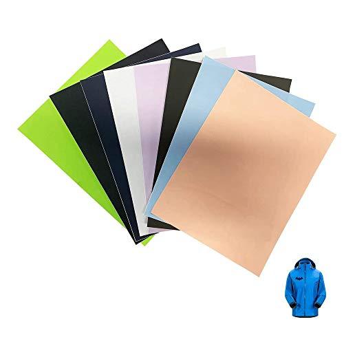 GloBal Mai Selbstklebende Patch-Sticker - Nylon Patch,8 Farb-Anzüge, geeignet für Glatte Stoff Rucksäcke, Zelte, Regenschirme, Regenschirme und andere Nylon-Materialien.
