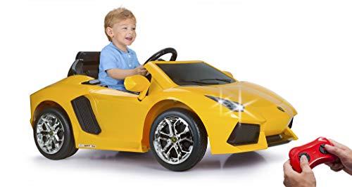FEBER Lamborghini Aventador - Coche eléctrico para niños de 3 años con radio control, color amarillo (Famosa 800011471)