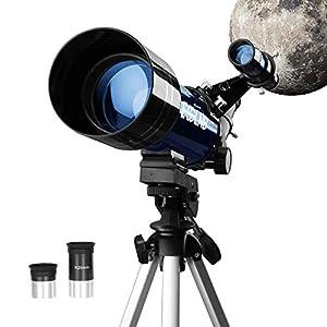 ESSLNB Telescopio Astronomico 70mm Telescopio Astronomico Bambini con Treppiede Lenti Completamente Rivestite