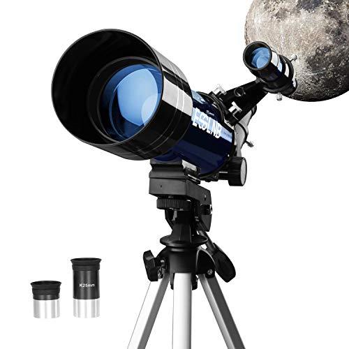 ESSLNB Teleskop Kinder Einsteiger 70MM Fernrohr Teleskop Astronomie mit Stativ