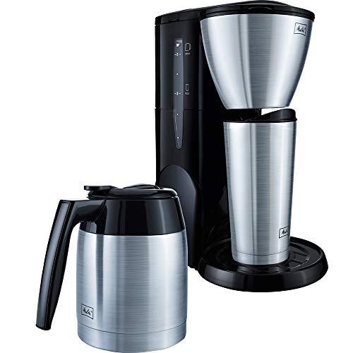 Melitta M728 Single5 Therm SST, Filterkaffeemaschine für kleine Haushalte inkl. Thermbecher, Filter-Kaffeemaschine, Edelstahl, Thermkanne Schwarz