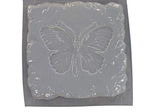 Stone Look Butterfly Stepping Stone Concrete Plaster Mold 1110