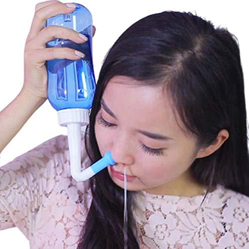 Neti Pot GLAMZA 300ml Sinus Rinse Bottle - Includes x1 Adult Nasal Rinse &...