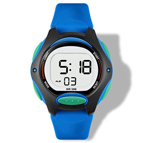 SFBBBO Reloj niño Niños Reloj para niños Reloj de Pulsera Digital para niño niña Relojes Deportivos LED Impermeables Azul Luminoso Impermeable