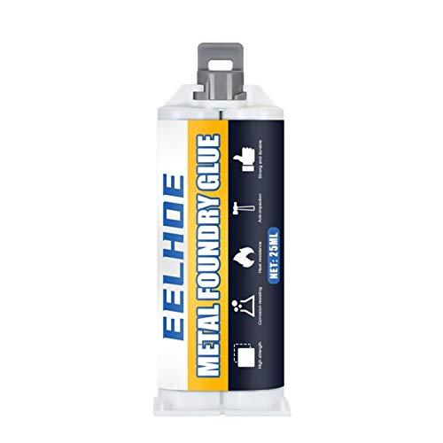 Rincr Reparador Adhesivo Super Pegamento Hierro Acero Auto radiador Tanque de Agua Fugas Especiales tapón de Soldadura Pegamento mágico Metal remendar Pegamento (Type B 25ML)
