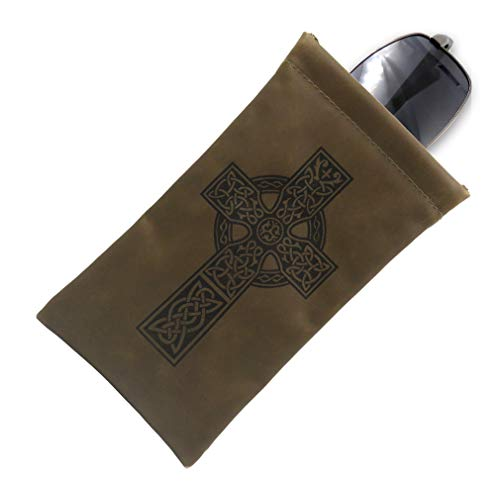 Soft Sunglasses Case Squeeze Top   EX Eyeglass case with Cleaning Cloth   A Soft Glasses Case   Passport Holder Pouch   Earbud and Phone Charger Storage Case (CT8 Celtic Cross)