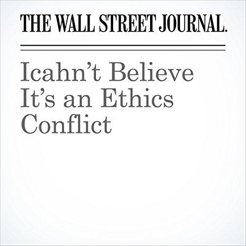 Icahn't Believe It's an Ethics Conflict copertina