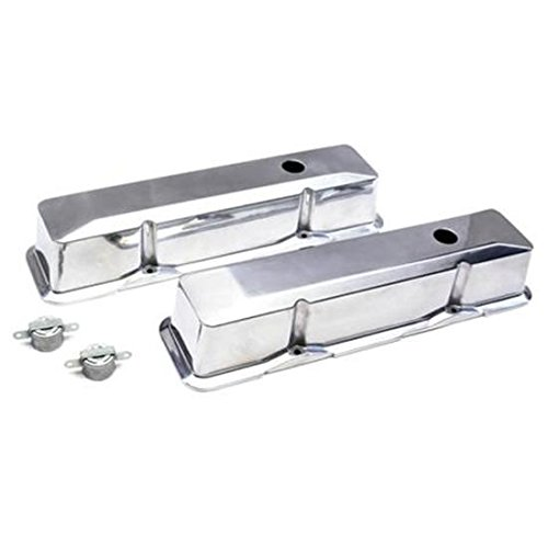 Small Block Fits Chevy Polished Alum Tall Valve Covers, Push-In 1-1/4 Hole