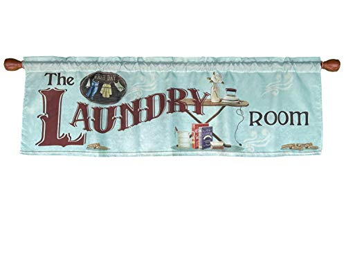 Laundry Room Window Curtain Valance Rod Pocket 58 X 18 Inches