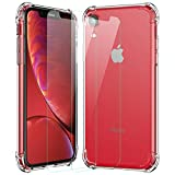 MTOP iPhone XR Case with [2Pack Tempered Glass Screen